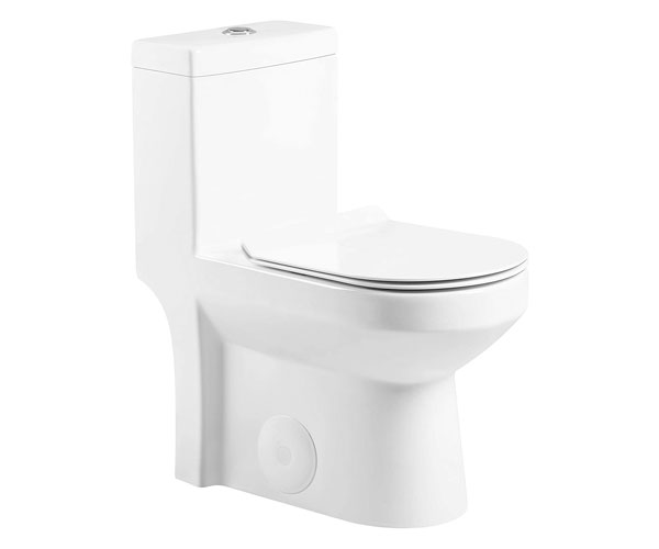 Fine Fixtures Dual-Flush Round One-Piece Toilet 10