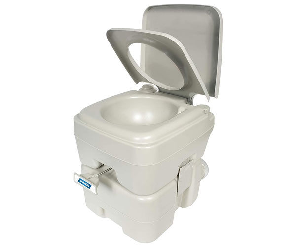 Camco 41541 Portable Travel Toilet – Best Portable Toilet for Truckers 2021 – Amazon's Choice