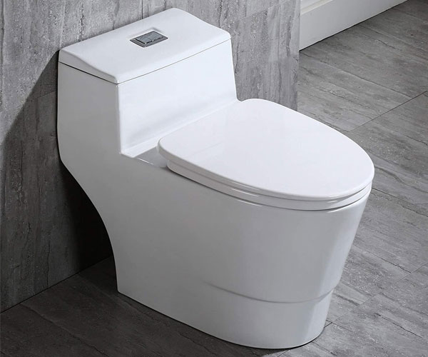 WOODBRIDGE T-0018/B-0735 Dual Flush - Best Elongated Toilet 2021 - Amazon's Choice