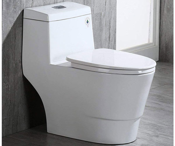 WOODBRIDGE T-0019 – Dual Flush One Piece Comfort Height No Clog Toilet in 2021